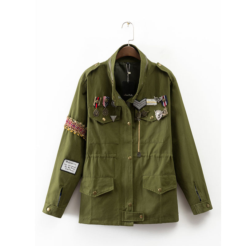 Online Get Cheap Women Green Military Jacket -Aliexpress.com ...