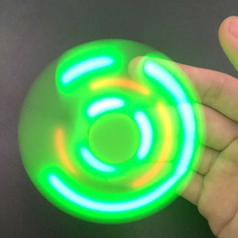 Fashion Bluetooth Speaker Hand Spinner LED Light ABS Rechargeable Relieve Stress Hand Finger Music Gyro Fingertip Toys @