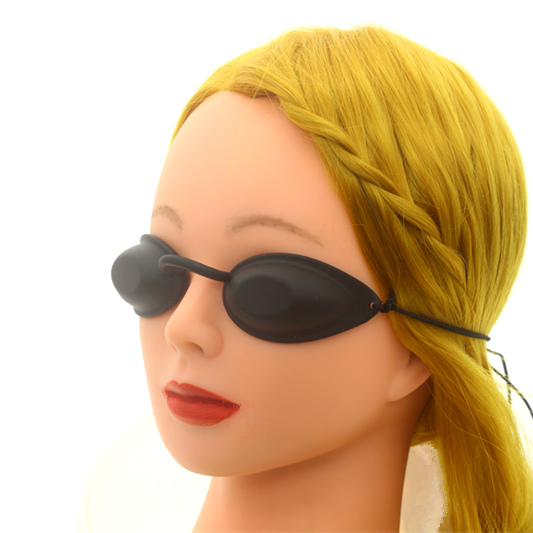 2PCS Laser Safety Goggles IPL Protective Glasses Hard Eyepatch For Beauty Clinic Patient Black Carbon Doll OPT E Light