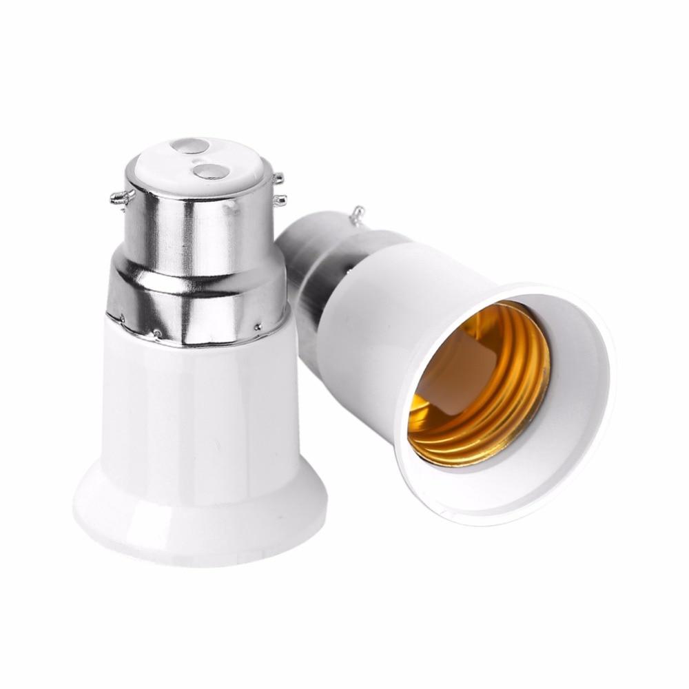 5pcs B22 to E27 Socket Lamp Base Bulb Holder LED Light Adapter Converter Male to Female Lamp Holders in Lamp Bases from Lights Lighting