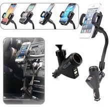 9be84254e3118b Dual USB Cigarette Lighter 2 USB Car Charger Phone Holder for iPhone X 5 6s  6 7 8 Plus For Samsung Galaxy S9 S8 S7 S6 Note 8 5
