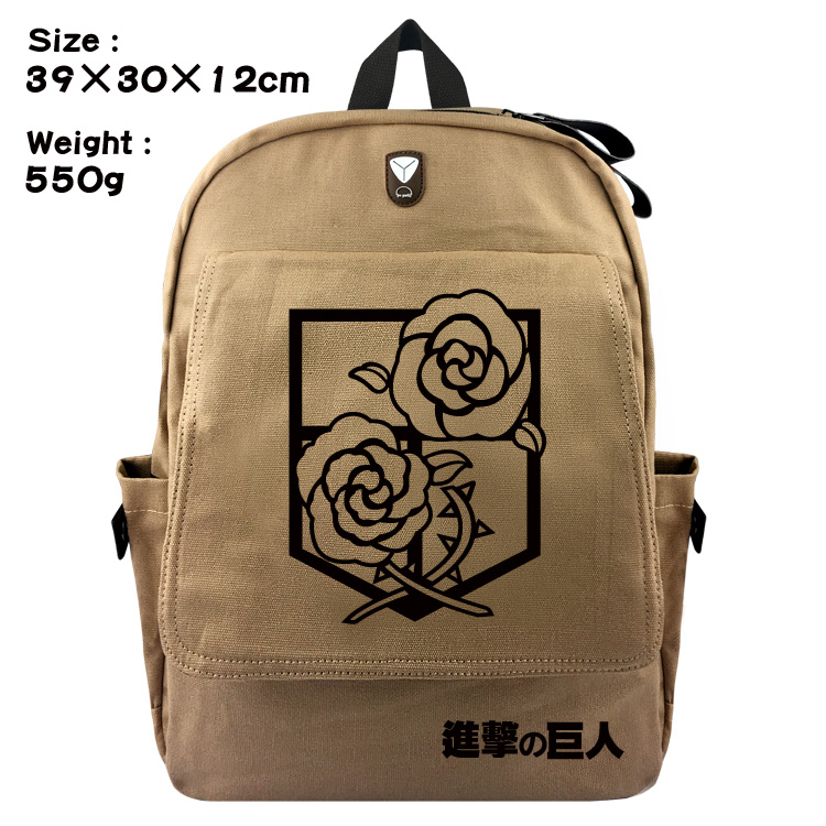 Anime Attack on Titan Canvas Backpack Shingeki no Kyojin Zipper Printing Bags Unisex Shoulder Schoolbag Travel Backpack Knapsack недорго, оригинальная цена