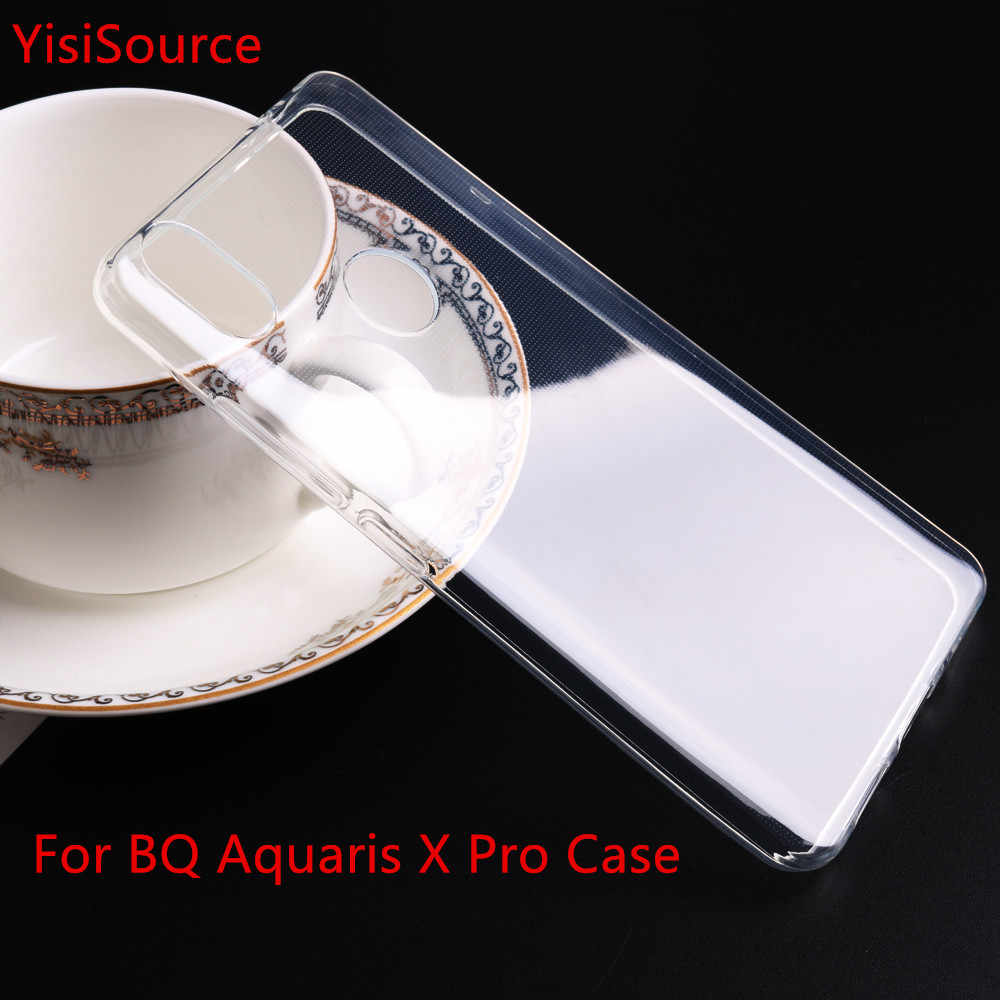 Yisisource Case for BQ X BQ X Pro Silicone Original Cover for BQ X Pro Phone Case Cover Back Soft TPU Transparent Clear Cases