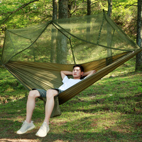 1-2 Person Outdoor Mosquito Net Parachute Hammock Camping Hanging Sleeping  Camping Tents Indoor Outdoor Swing