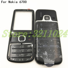 цена New Rear 6700 Metal Full Housing Cover Case For Nokia 6700 Classic 6700C Front Middle Frame Housing Battery Cover+Keypad онлайн в 2017 году