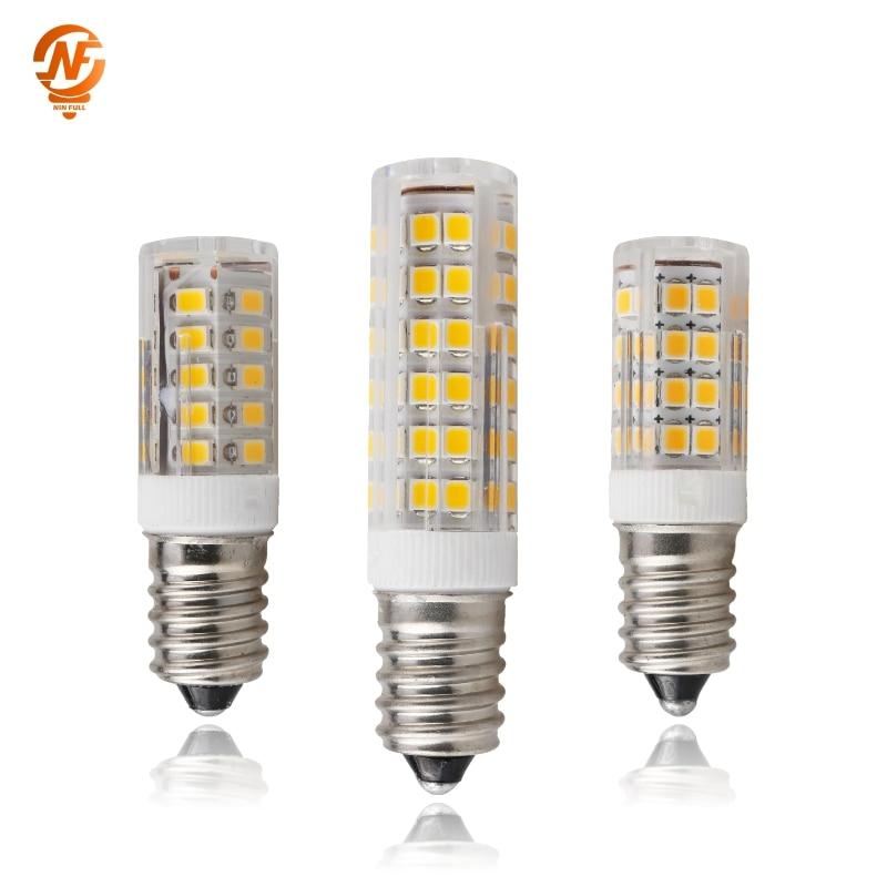 E14 Led Lamp Ceramic LED Bulb 220V 230V 3W 4W 5W 7W 2835 SMD LED Corn Bulb  360 Degree Angle Led Spotlight Lamp