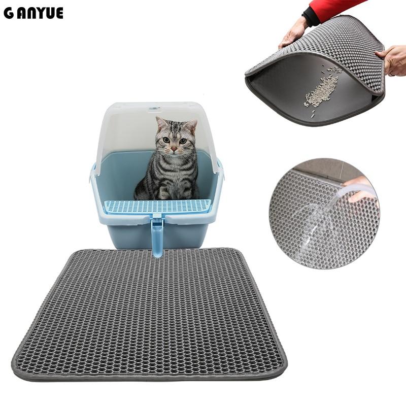 Ganyue Eva Double Layer Foldable Waterproof Removable Cat Litter Mat Pet Little Cat Kitten Litter Trapper Catcher Mat