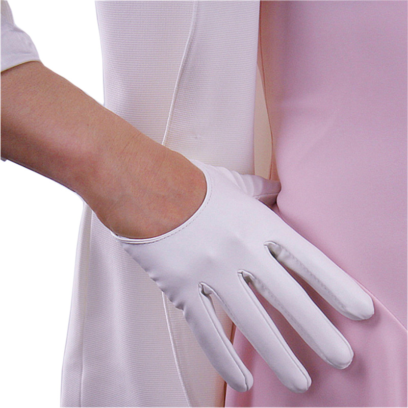 2020 New Woman Patent Leather PU Gloves Short 13cm Bright Leather Dance Party Simulation Leather Female Gloves Cosplay PU13
