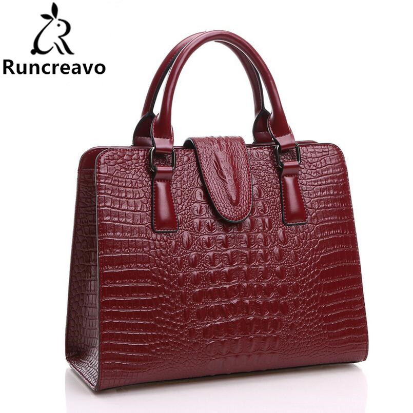Genuine Leather Bag Ladies 2018 New Crocodile Pattern Women Messenger bags Handbags Women Famous Brand Designer High Quality Bag genuine leather bag ladies crocodile pattern women messenger bags fashion handbags women famous brand designer bolsa feminina