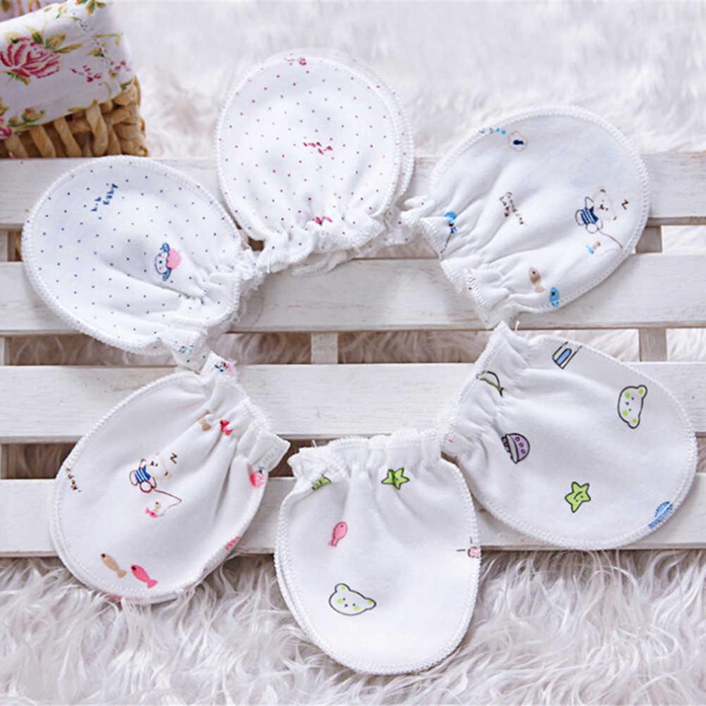 1 זוגות אחת גודל אופנה יפה קריקטורה תינוק בני בנות שריטה אנטי תינוק כפפות כפפות רכות