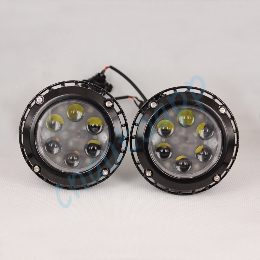цена на H16 LED Fog Light For GMC YUKON XL 1500/2500 ACADIA CANYON Ford Escape Mustang Chevrolet Suburban Tahoe Avalanche Camaro Canyon