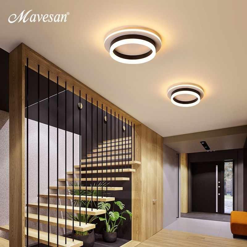 Couloir LED lustre lumière couloir Surface monté acrylique plafond rétro-éclairage 20W lampe moderne Lustres Lampadario AC85-260V