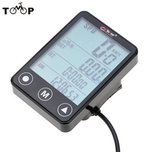 LCD Digital Waterproof Touch Botton LCD Bicycle Computer Odometer Velometer Bicycle Speedometer Accessories Bike Computer