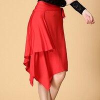 Lady Latin Dance Skirt For Sale Red Black Leopard Cha Cha Rumba Samba Tango Dresses For