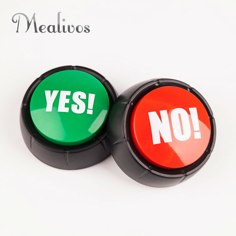 1 set YES and NO Sound Button event & party tools supplies geven feestelijke decoraties