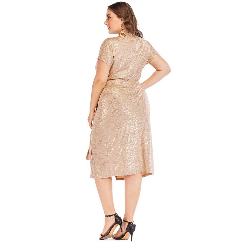 Romnacci 4XL 5XL vestido de talla grande para mujer patrones ...