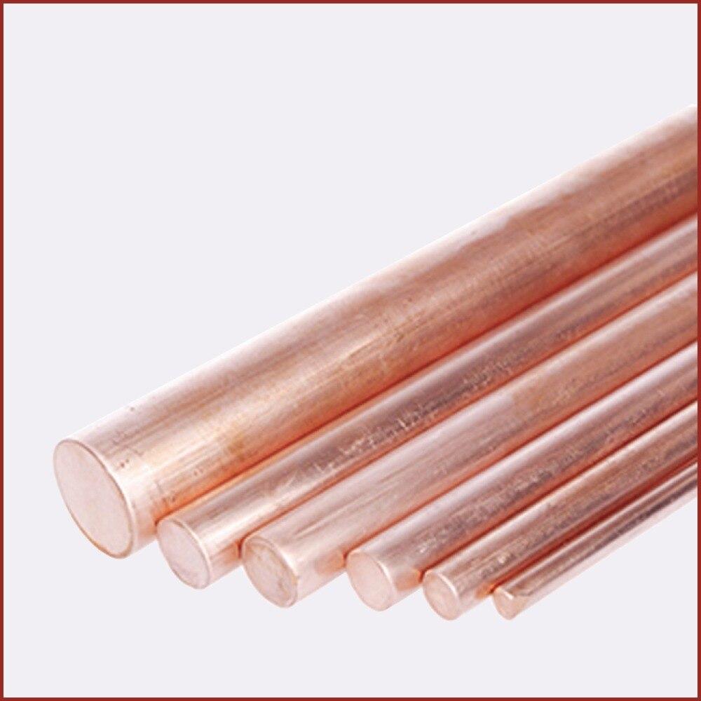 T2 Kupfer Runde bar kupfer stange Solide Drehmaschine Bar Schneiden Werkzeug Metall 2mm zu 50mm fräsen stecher schweißen metallbearbeitung handwerk