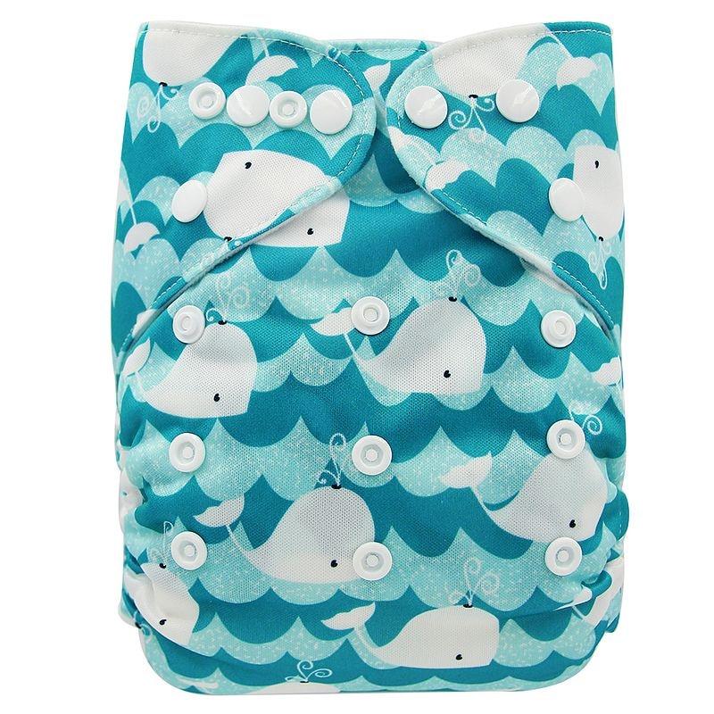 Ohbabyka, детские тканевые подгузники, многоразовые подгузники, унисекс, детские штаны для ухода за ребенком, водонепроницаемые тканевые подгузники с карманами, детские подарки для душа - Цвет: OB176