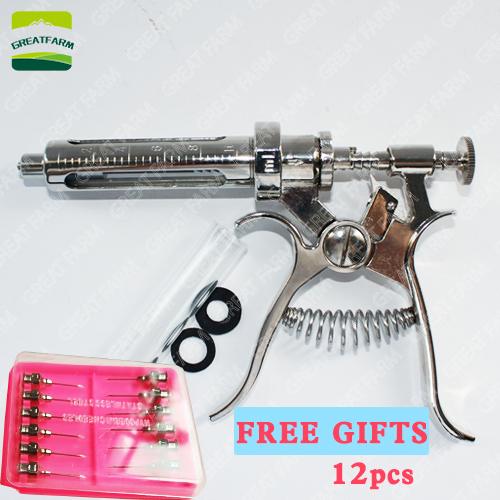 10 20 30 50ml revolver continuos syringe stainless steel veterinary syringes automatic animal pig chicken cow