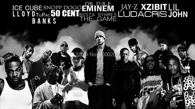 RAP Star Celebrity Poster 2PAC Eminem Thug Paper Posters Movies Wall Stickers Wallpaper Home