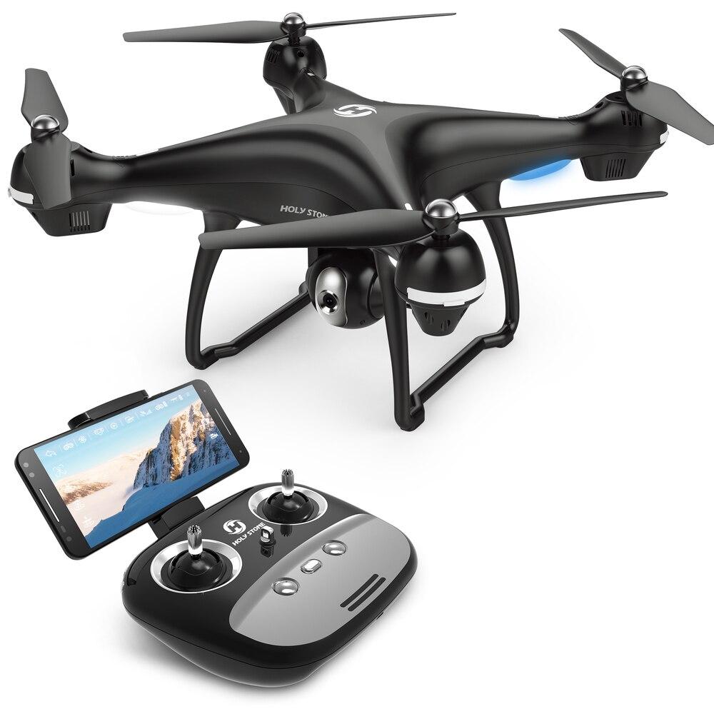 [UE EUA JP Estoque] Pedra Sagrada HS100 GPS FPV Zangão 500 m Faixa De Vôo 2500 mah 720 p câmera RC Quadcopter Wi-fi APP Nenhum Imposto Navio para a UE