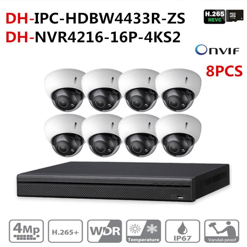 Kit de cámara CCTV de seguridad DH 16POE 4K NVR4216-16P-4KS2 8pcs - Seguridad y protección