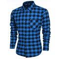 Chemise homme hombres camisa Masculina A Cuadros de Manga Larga Ocasional de Los Hombres Camisas de vestir camisas hombre Camisa Social camisa masculina