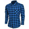 chemise homme  Men's Casual Long Sleeve men shirt  Male Plaid Shirts Social Camisa  camisas hombre vestir camisa masculina