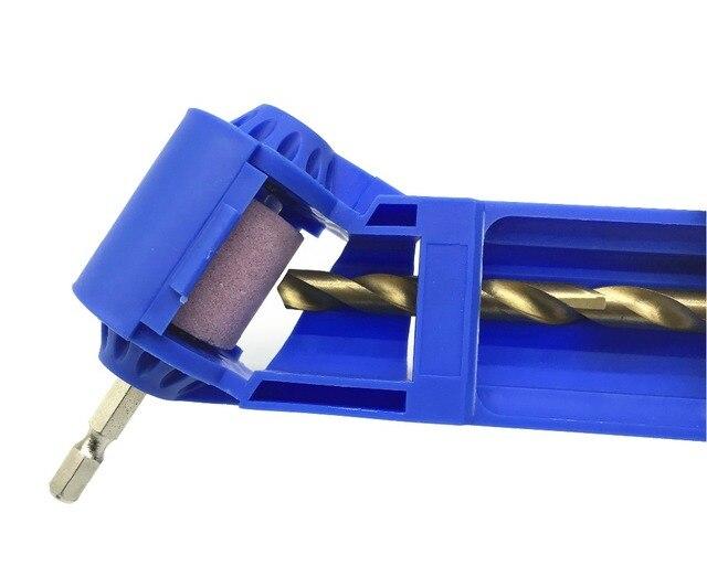 Milda ドリルビットシャープナーコランダム砥石ポータブル電源ツールドリル研磨ホイールドリルビットシャープナー 2 12.5 ミリメートル