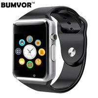 Bluetooth Hommes Femmes Montre Smart Watch Soutien SIM TF Carte Montre-Bracelet Pour Android et IOS Téléphone Caméra Podomètre PK DZ09