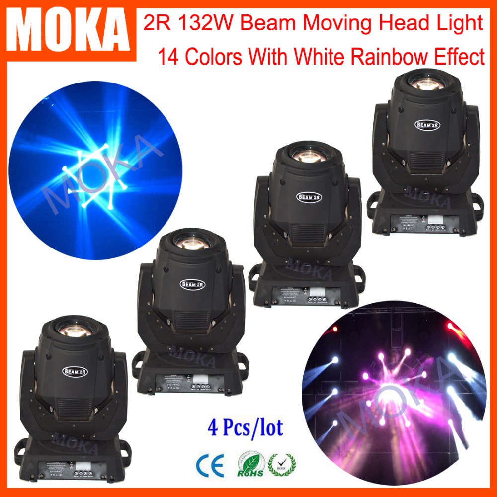 4 Pcs/lot 2R Led Moving Head Light Stage Lighting Effect Christmas Lights Indoor Outdoor Projector