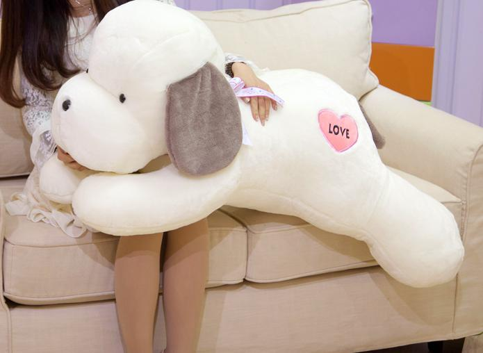 Plüss játékok nagy kutya párna párna a gyermek játék baba lány születésnapi ajándék