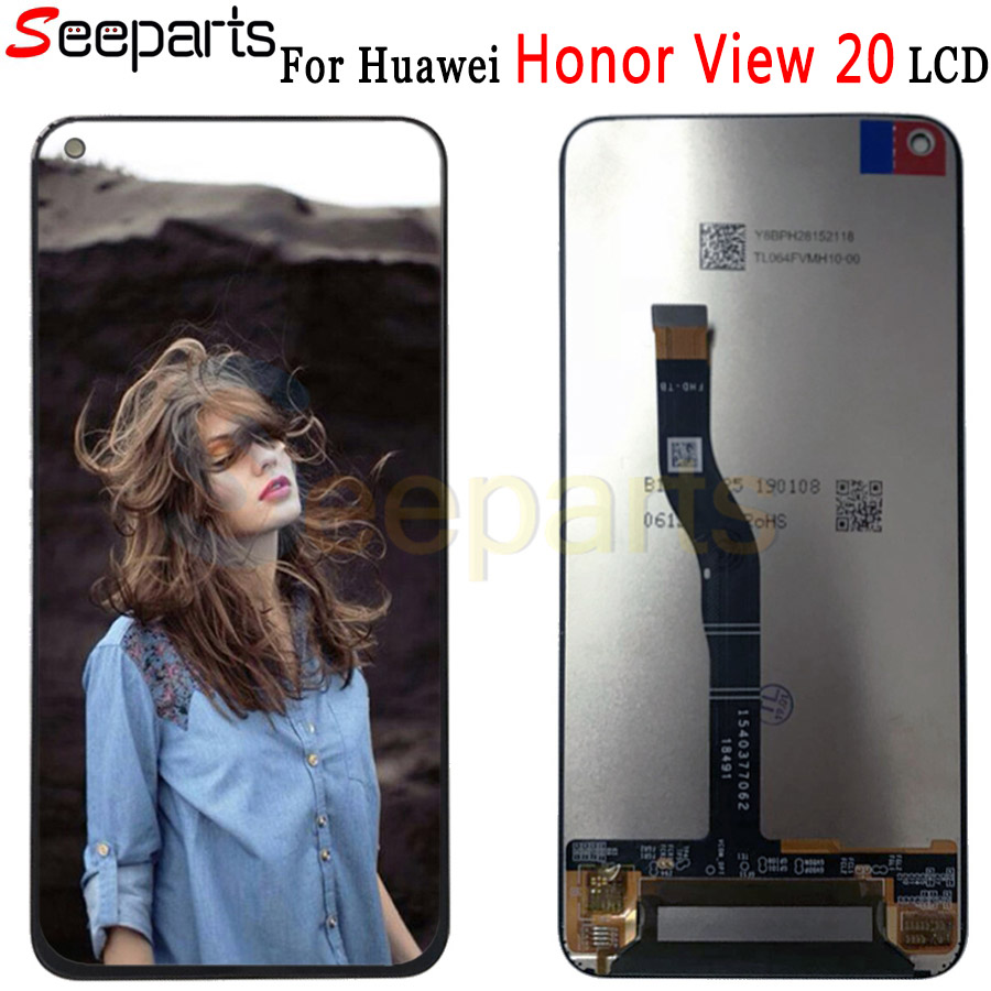 Tested Original For Huawei Honor View 20 LCD Display Screen Touch Digitizer Assembly Honor V20 LCD Display Repair Parts+Tools