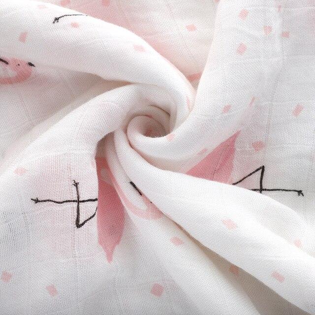 1Pc Muslin 100% Cotton Baby Swaddles Soft Newborn Blankets Bath Gauze Infant Wrap Sleepsack Stroller Cover Play Mat 2