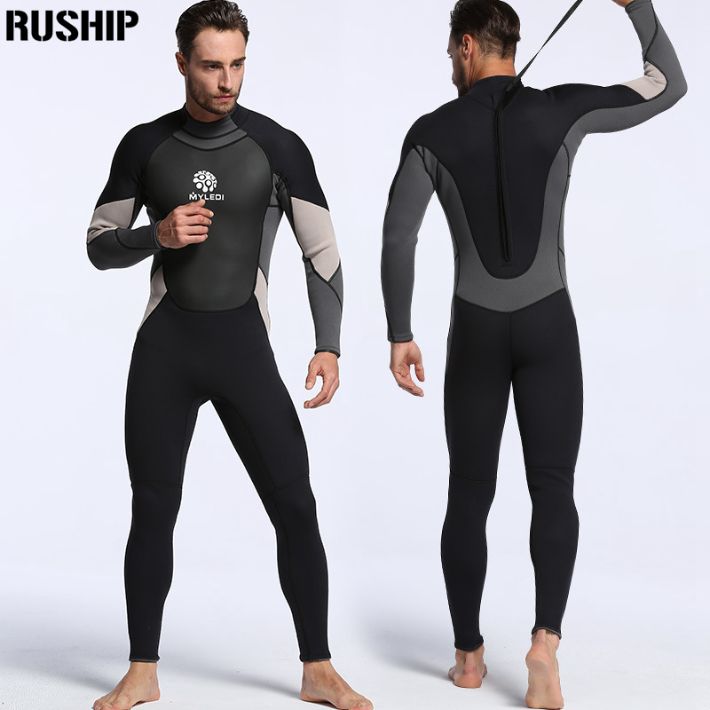 Professional 3mm Men Neoprene diving suits warm keeping Rash Guards swimwear long sleeve Spearfishing snorkeling one