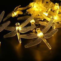 2017 NEW 5M 20LED Solar Hard Dragonfly Light String Christmas Wedding Party Decoration YE A830