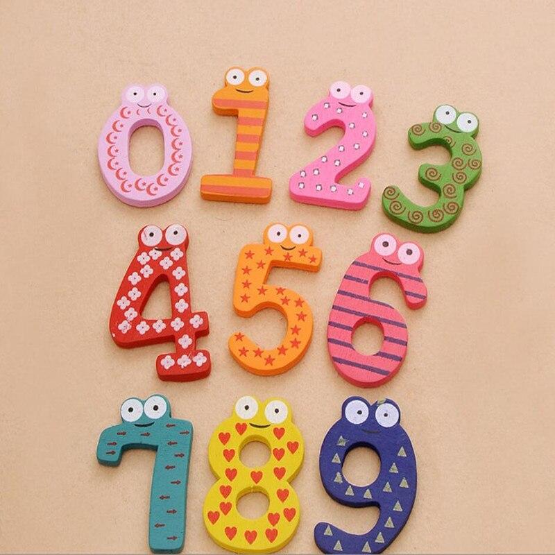 Набор 10 Количество Рисунок образования детей деревянный магнит на холодильник детские игрушки подарок товары для дома