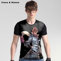 Game cartoon image 3D printing fashion casual short sleeve t-shirt Summer 2017 new arrival soft breathable quality t shirt men