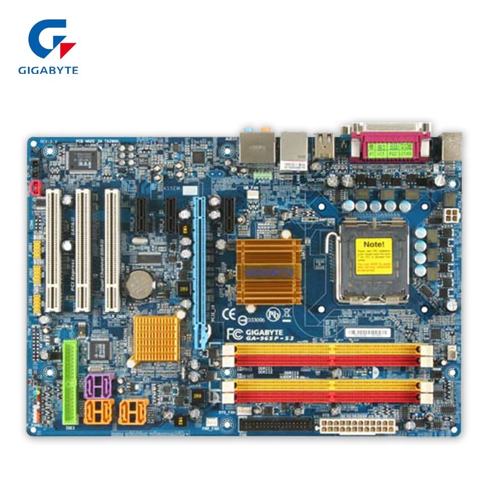 все цены на Gigabyte GA-965P-S3 Original Used Desktop Motherboard 965P-S3 P965 LGA 775 DDR2 SATA2 ATX онлайн
