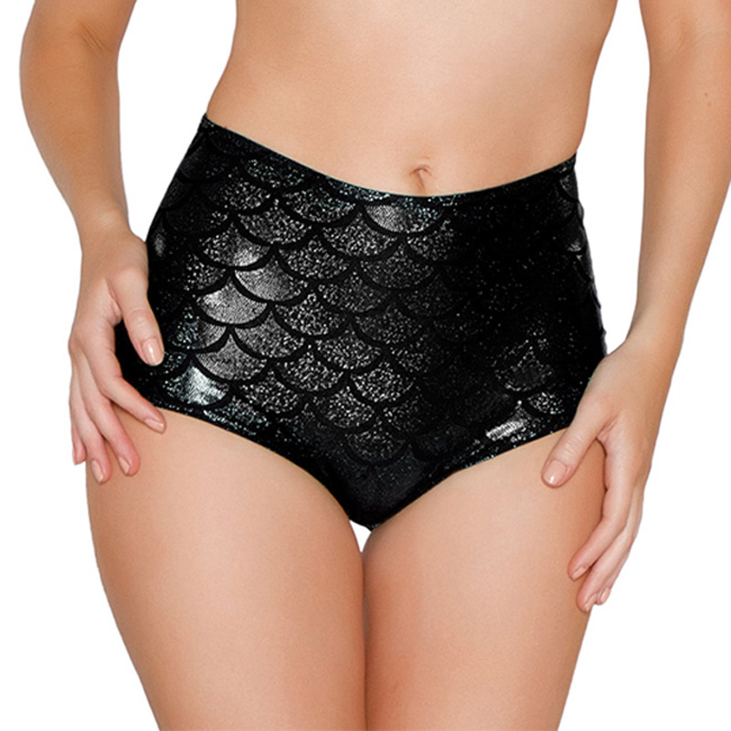 High Waist Candy Color Patent Leather Sexy Pole Dance Booty Shorts Clubwear Micro Shorts Fish Scale