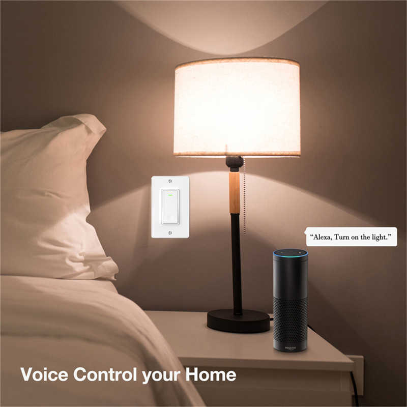 Minitiger WiFi inteligentne oświetlenie ścienne przełącznik inteligentne życie/pilot aplikacji Tuya praca z amazon alexa Echo Google Home IFTTT