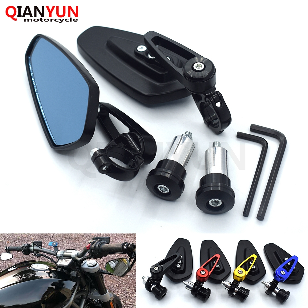 """7//8/"""" Handle Bar End Rear View Mirrors For Ninja ZX6R ZX7R ZX9R ZX10R ZX12R ZX14"""