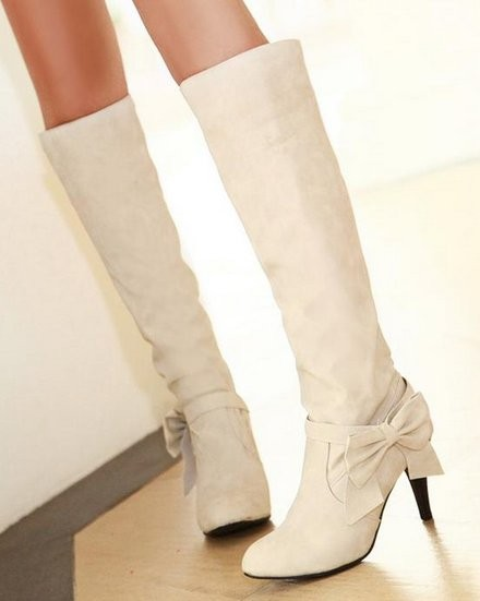 Free shipping knee boots women fashion snow winter footwear high heel shoes sexy warm half boot P7890 EUR size 34-45