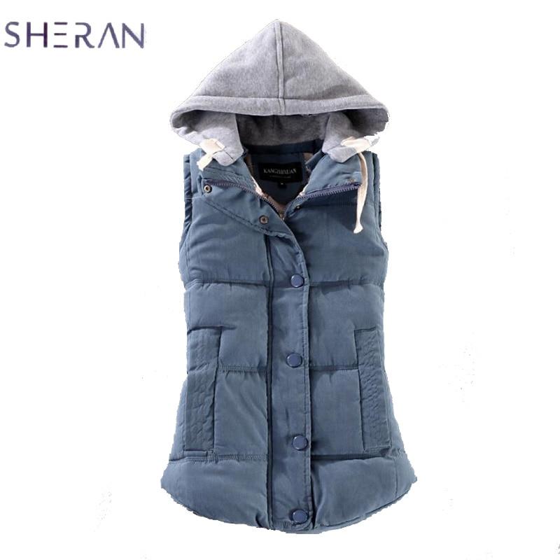 SHERAN Women Vest Fashion Woman Vest Spring Slim Cotton Velvet Plus Size Casual Coat Coletes Feminino Inverno Chaleco Mujer