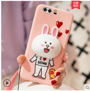 huawei p10 Case, Silicon Luxury Soft TPU 3d cartoon dolls cute protective case for huawei p10 plus case