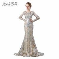 Modabelle Elegant Bridal Evening Dress Long Sleeves Sequin Celebrity Dresses Designer 2018 Bling Bling Women Evening