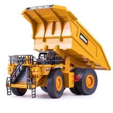 1:40 Simulation Alloy Mining Truck Model Dump Sliding Two-level Tipper Childrens Toy Car Boy Gift for