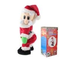 1 cái Điện Twerk Santa Claus Nhảy Múa Búp Bê Lắc Toy Giáng Sinh Natal Trang Trí Trẻ Em Năm Mới Gift Xmas Bảng Trang Trí