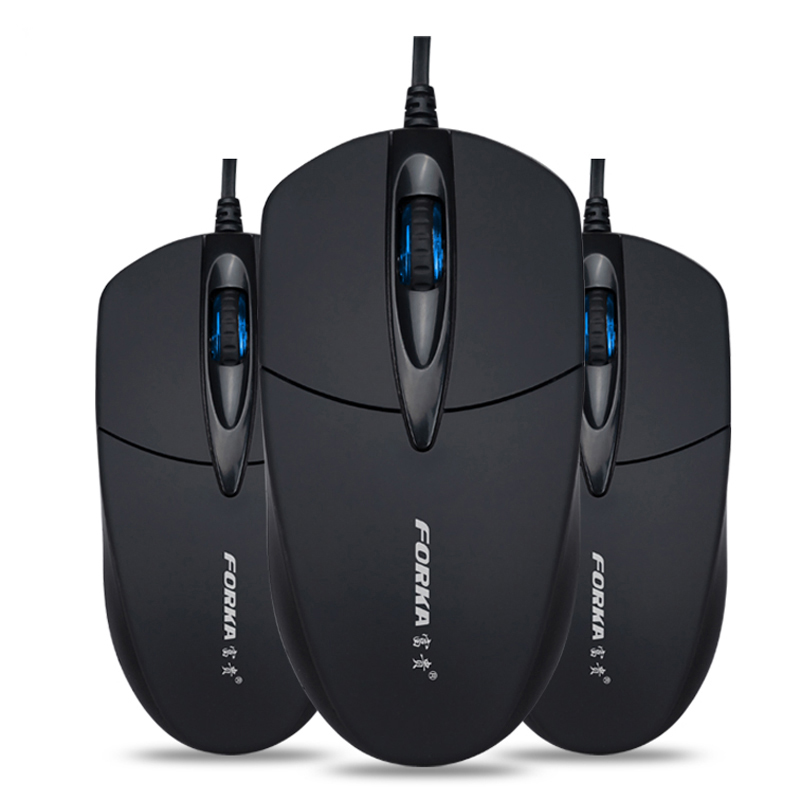 Mouse & Keyboards Usb Wired Computer Laptop Led Optical Mouse Silent/sound 1200dpi For Home Office Forka V9 Dependable Performance