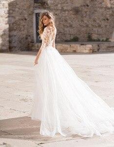 Image 3 - Verngo 2019 Boho Wedding Dress Elegant Lace Appliques Bridal Gown Custom Made wedding Dress New Design Mermaid
